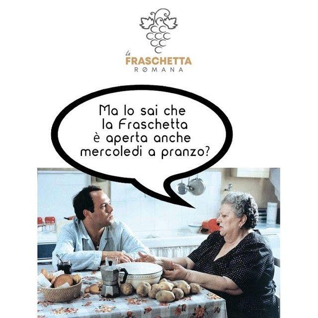 La Fraschetta Romana ti aspetta anche il Mercoledi a pranzo con il consueto menù di lavoro a 12€... Chiama il 0187/761810  #lafraschettaromana #sarzana #laspezia