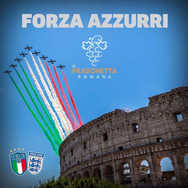 Questa sera tutti a gridare FORZA AZZURRI!!! #lafraschettaromana #sarzana #laspezia #italiainghilterra #euro2020 #finalewembley #finaleeuropei